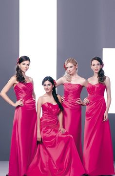 Next stop: DAB11155 DAB11157 Bridesmaid Dresses, Prom Dresses, Formal Dresses, Wedding Dresses, Bridesmaids, Formal Wear Women, Wedding Colors, Strapless Dress Formal, Pink