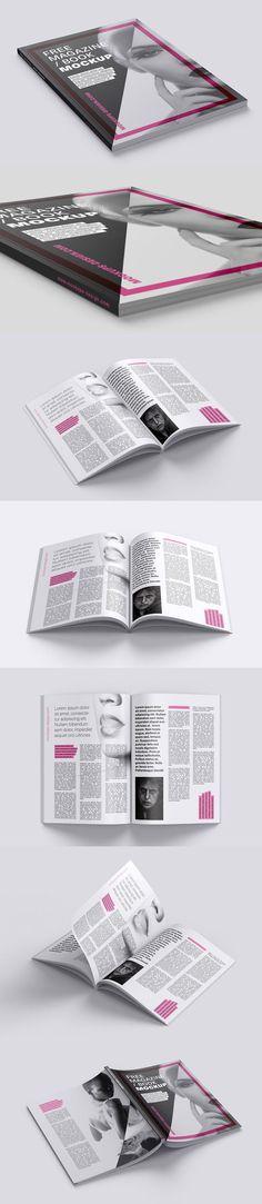 Free Magazine, Catalog, or Book Mockup Set
