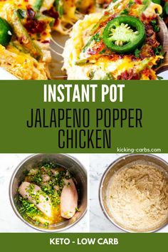 All the flavors of your favorite appetizer in the form of a hearty and satisfying meal? YES, please! This Instant Pot Jalapeno Popper Chicken is a fun twist on a classic. With a kiss of heat, and creamy, cheesy goodness, this recipe could not be more comforting. Gluten Free Recipes For Breakfast, Healthy Gluten Free Recipes, Gluten Free Dinner, Low Carb Recipes, Real Food Recipes, Jalapeno Popper Chicken, Jalapeno Poppers, Baked Chicken Recipes, Game Day Food