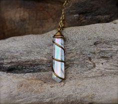 Angel Aura Quartz Necklace  Wicca Jewelry  by MermaidTearsDesigns