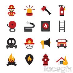 Fire element icon vector