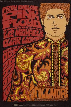 pf psychedelic pink floyd Psychedelic art david gilmour Roger Waters syd barrett Nick Mason Rick Wright the wall psychedelic rock Early Pink Floyd The Pink Floyd early floyd Poster Art, Retro Poster, Kunst Poster, Rock Posters, Band Posters, Hippie Posters, Psychedelic Art, Rock Vintage, Vintage Music