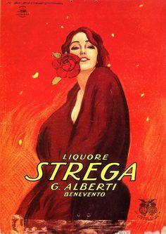 Italian advertising of Strega