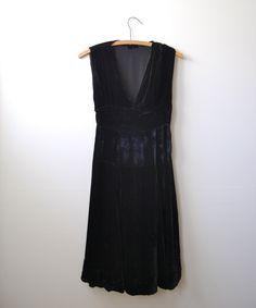 Vintage 1930s Velvet Dress (old school)