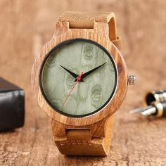 🥇Buy Watches ✅ Unisex Wood Round Dial Faux Leather Strap No Number Analog Quartz Wrist Watch Wood Watch Men Women Wooden Clock ? Wooden Watches For Men, Vintage Watches For Men, Handmade Clocks, Simple Watches, Wooden Clock, Wood Rounds, Wood Watch, Leather, Accessories