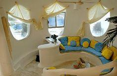 Unique House Design, The Conch-Shell House – Living room ... www.viahouse.com