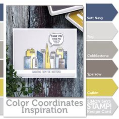 Color Coordinates: Skyline Thanks