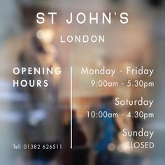A professional looking business hours sign, complete with stylish business name above. Many Hours of operation signs available. Business Hours Sign, Business Signs, Business Names, Glass Signage, Window Signage, Animal Clinic, Pet Clinic, Barbershop Design, Ideas