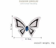 Очень Низкие Цены!!! новая мода ювелирные изделия бабочка брошь кристалл брошь ювелирные изделия циркон свадебная вечеринка подарки купить на AliExpress