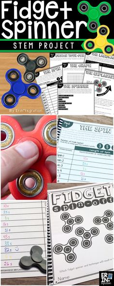 Teaching STEM in the classroom. Which fidget spinners spin the longest? Use this complete STEM Challenge to investigate fidget spinners in the classroom. 4th Grade Science, Stem Science, 3rd Grade Math, Middle School Science, Science Fair, Science Lessons, Middle School Stem, Physical Science, Earth Science