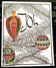 Zentangle style Christmas card 1