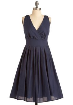 Aryeh  Glamour Power to You Dress in Navy