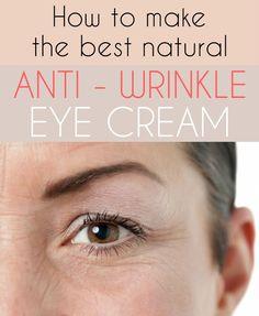 Learn how to make the best natural anti-wrinkle eye cream. Homemade recipe.