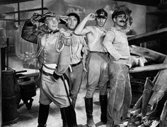 Harpo, Chico, Zeppo and Groucho Marx salute on the set of Duck Soup, directed by Leo McCarey. Great Comedies, Classic Comedies, Classic Films, Old Hollywood Glamour, Vintage Hollywood, Zeppo Marx, Movie Reels, Groucho Marx, My Silence