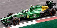 Giedo van der Garde driving the Caterham CT03 at Sepang International Circuit