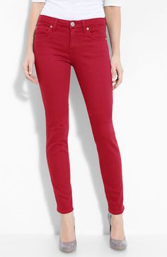 Loving the red jean trend.