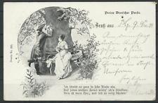 AK Gruss aus, Dessin No. 203, Perlen Deutsche Poesie, 1899 (40634