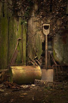OLD GARDEN TOOLS by GARY HICKIN (GAZART), via Flickr