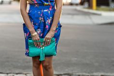 #OOTD wearing this adorable Blue Jacquard dress! #HelloGorgeous