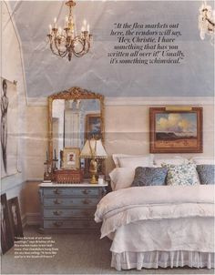 Christie Brinkley's Home less gold more silver for me.... but super cute overall