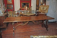 18th Century Italian Walnut Refectory Table | From a unique collection of antique and modern dining room tables at http://www.1stdibs.com/furniture/tables/dining-room-tables/