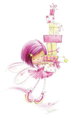 "from album ""Художник-иллюстратор Марина Федотова"" on Party FairyParty Fairy Happy Birthday Wishes, Birthday Greetings, Birthday Cards, Birthday Gifts, Happy Birthday Images, Birthday Ideas, Happy B Day, Cute Illustration, Digital Stamps"