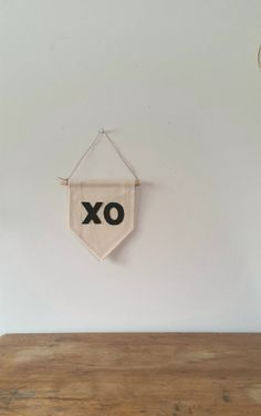 Handmade Canvas Wall Banner XO Love Valentine's Day by aspenandoak SHIPPING INCLUDED #MadeInAmerica ☆
