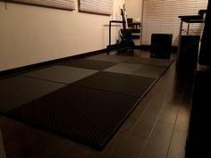 市松ブラックのモダンでかっこいいお部屋 Tatami Room, Japanese, Japanese Language, Washitsu