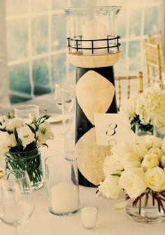 DIY Beach Wedding Centerpiece Ideas, Beautiful Beach Wedding Centerpieces #beach #wedding  #decor  #centerpiece www.loveitsomuch.com
