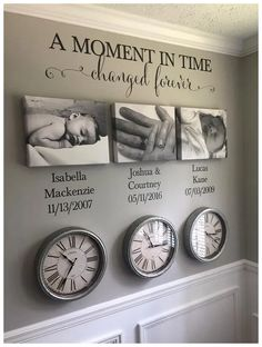 A Moment in time changed forever Photo Picture wall Vinyl Wall Decal sticker let. A Moment in time changed forever Photo Picture wall Vinyl Wall Decal sticker lettering with names and dates custom Family Wall Decor, Hallway Wall Decor, Living Room Wall Decor, Family Clock, Family Tree Wall, Canvas Wall Decor, Living Rooms, Wall Decal Sticker, Wall Vinyl