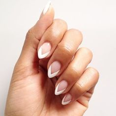 Take inspiration from the French manicure, then add a bit of edge. | 16 Things You Never Realized You Could Do With White Nail Polish