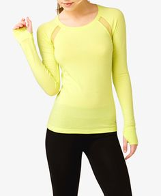 Mesh Paneled Workout Top   FOREVER 21 - 2045289348