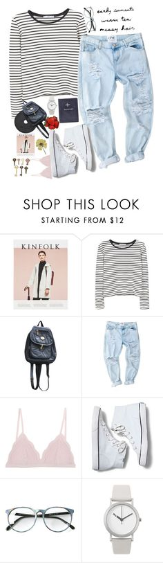 """""""Going places"""" by redblossem ❤ liked on Polyvore featuring MANGO, Cosabella, Keds, Normal Timepieces and FOSSIL"""