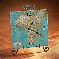 I like the idea of using maps. I could make these for each place the family and friends live and always know what time it is where they are.