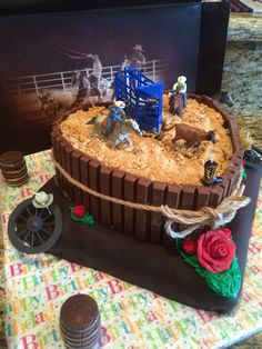 Bull Riding Birthday Cake on Cake Central Party time Pinterest