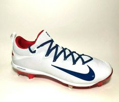 Nike Lunar Vapor Ultrafly Elite USA Metal Baseball Cleats Mens 13 AO1007-146 #Nike Metal Baseball Cleats, Baseball Shoes, Baseball Stuff, Nike Shoes For Sale, Nike Lunar, Shoe Box, Royal Blue, Fans, Usa