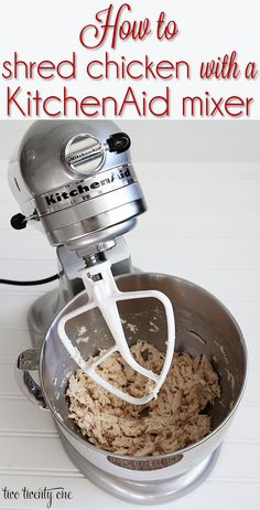 How to shred chicken in seconds with a KitchenAid mixer!