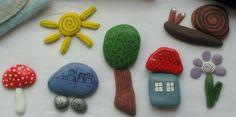 Pebbles...paint to make little puzzles...