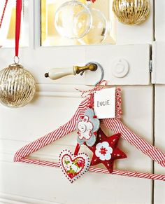 ♥  this, must do for Miss E with decorated pegs and her stocking hung from it. Oh so sweet!