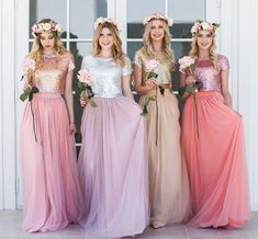This item is unavailable Tulle Skirt Bridesmaid, Bridesmaid Outfit, Prom Dress, Party Rock, The Dress, Silk Dress, Silk Skirt, Dress Skirt, Blush Skirt
