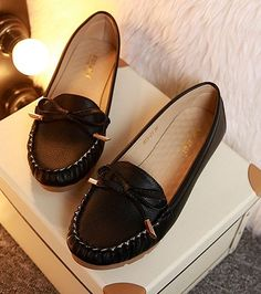 Genuine cow leather loafers flats shoes for women PR969 spring summer autumn cow muscle women's bow flats loafers shoes