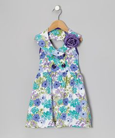 This Purple Watercolor Yolk Dress & Flower Pin - Toddler & Girls by Citlali's Choice is perfect! #zulilyfinds