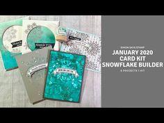 Simon Says Stamp January 2020 Card Kit | Alcohol Inks and a Mini Snow Globe - YouTube