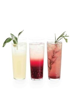 In addition to your signature drink, concoct a nonalcoholic cocktail that guests—underage or otherwise—can toast, without getting toasted.