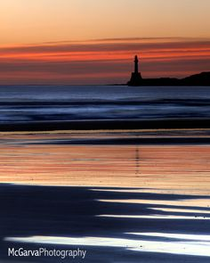 *Lighthouse in the Scottish Sunset