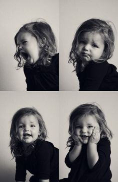 This is cute child studio photography - unposed natural.