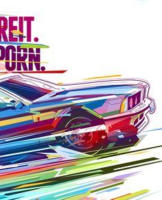 BMW, graphic design, good color comp. and sense of motion