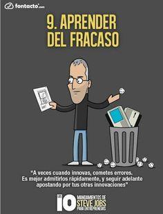 Los 10 mandamientos de Steve Jobs para emprendedores.