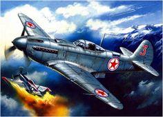 YAK-9 vs US Mustang over Korea