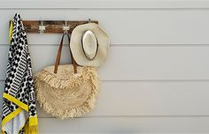 STRIA™ 255MM SPLAYED; Hat and Blanket hanging on wall